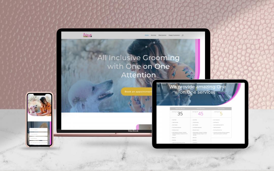 Web Design voor The Pink Poodle Salon
