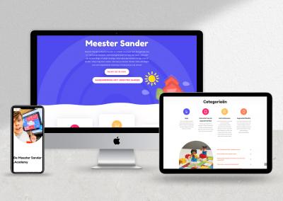 Web Design voor MeesterSander.nl